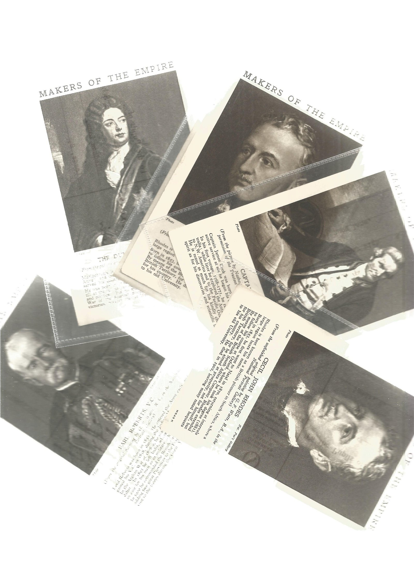 Postcards, World War 2, six cards Makers of the Empire