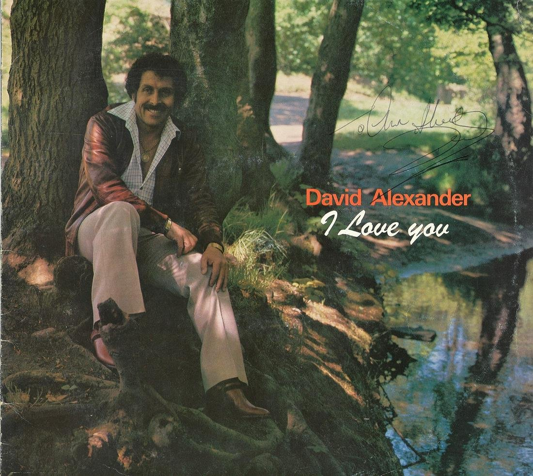 David Alexander signed I love you 33rpm record sleeve,
