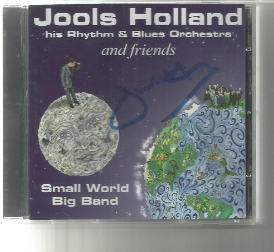 Jools Holland signed CD insert for Small World Big