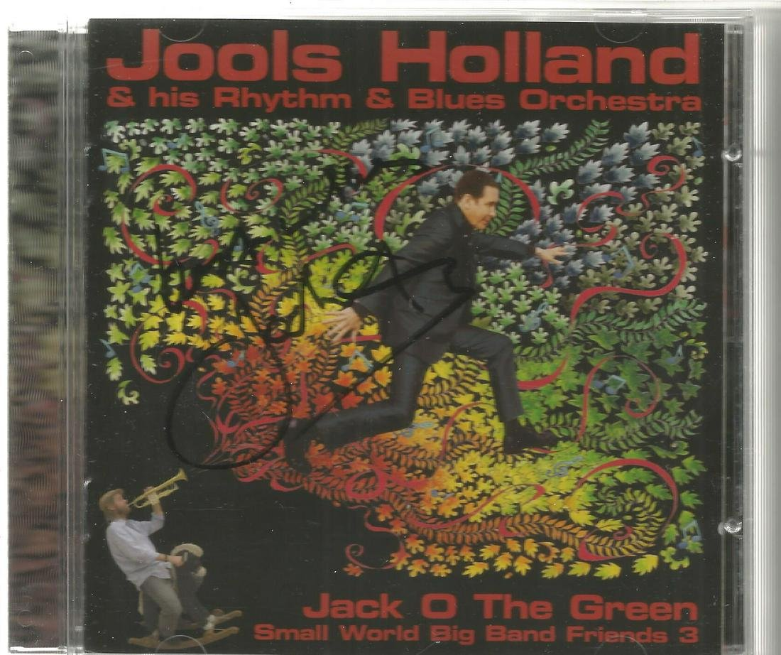 Jools Holland signed CD insert for Jack O the Green, CD