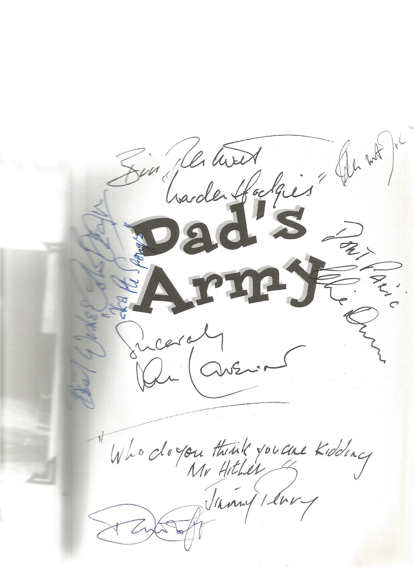 Dad's Army a celebration softback book signed inside by