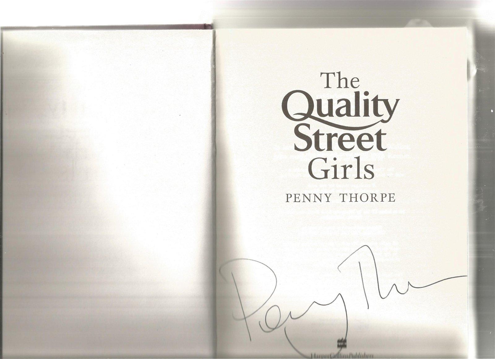Penny Thorpe signed The Quality Street Girls hardback