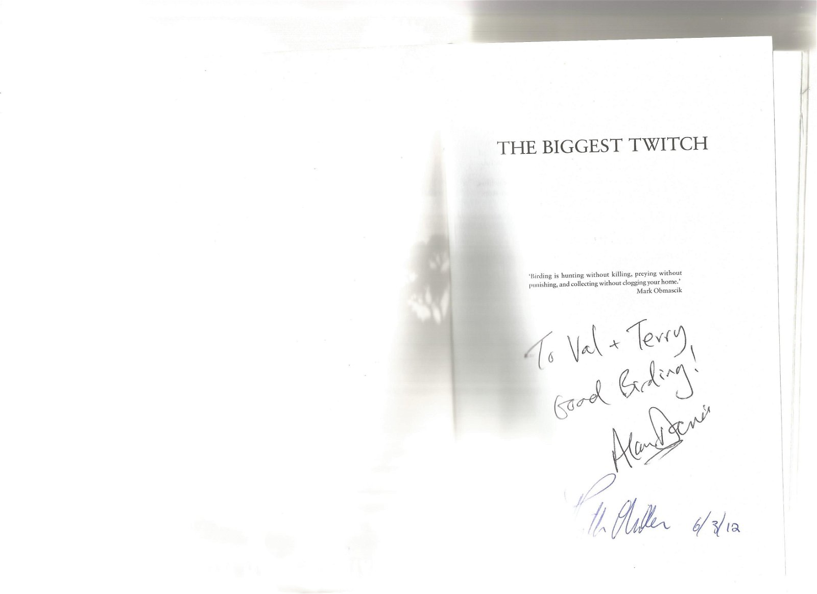 Alan Davies and Ruth Miller signed The Biggest Twitch