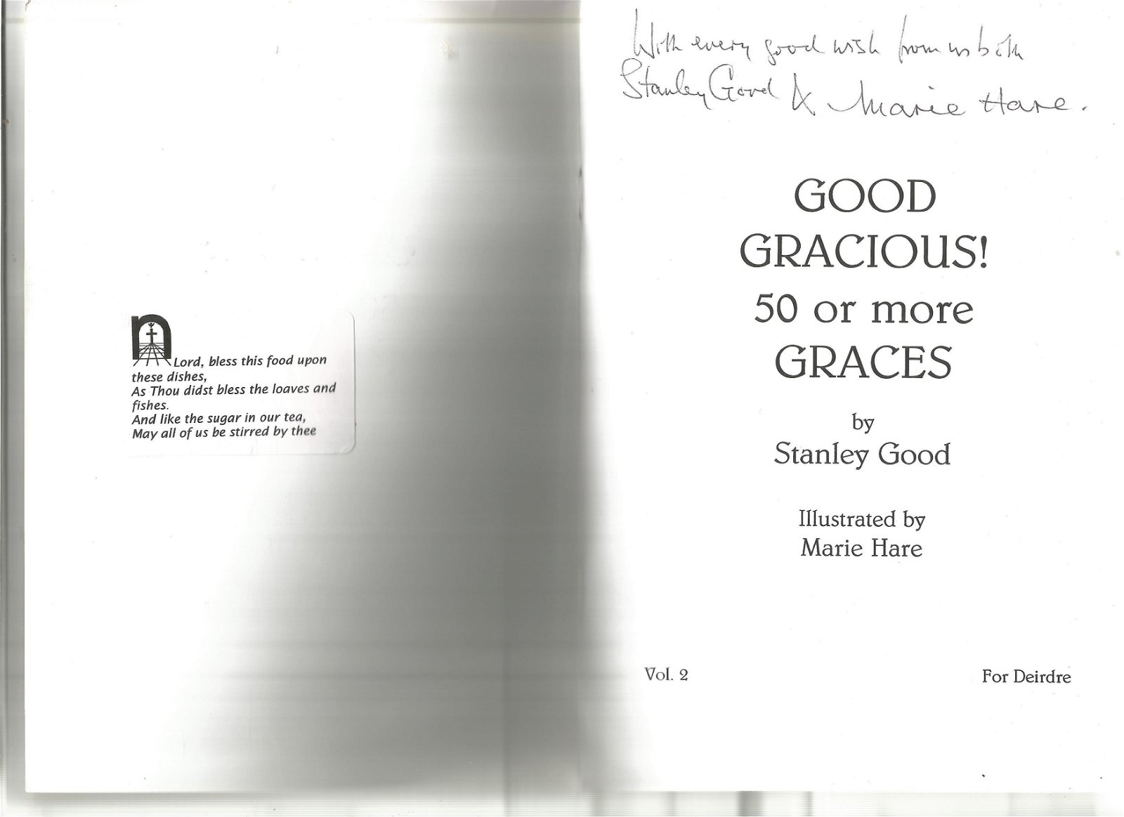 Stanley Good and Marie Hare signed Good Gracious 50 or