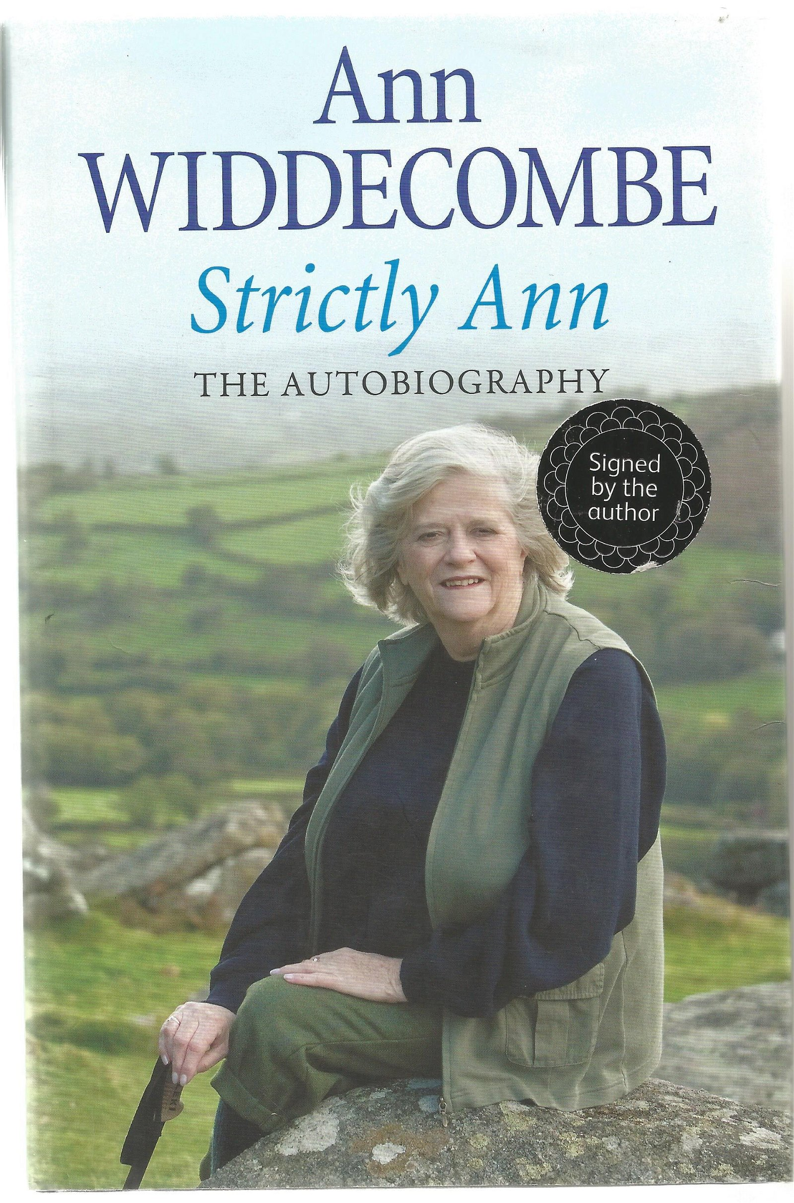 Ann Widdecombe signed Strictly Ann the autobiography