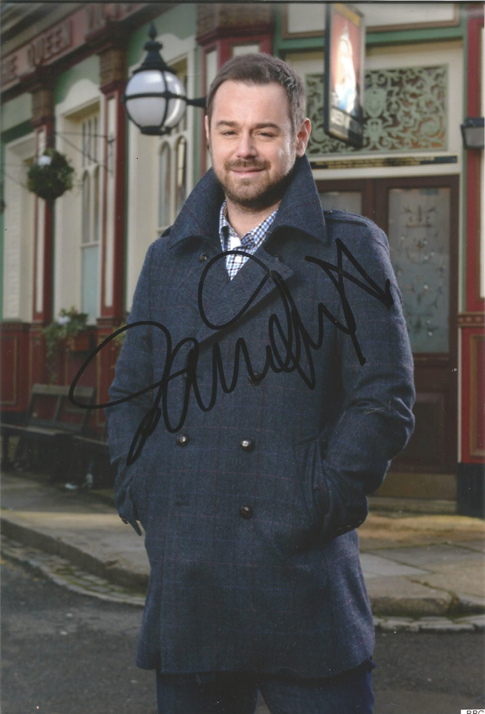 Danny Dyer Actor Signed Eastenders 8x12 Photo . Good
