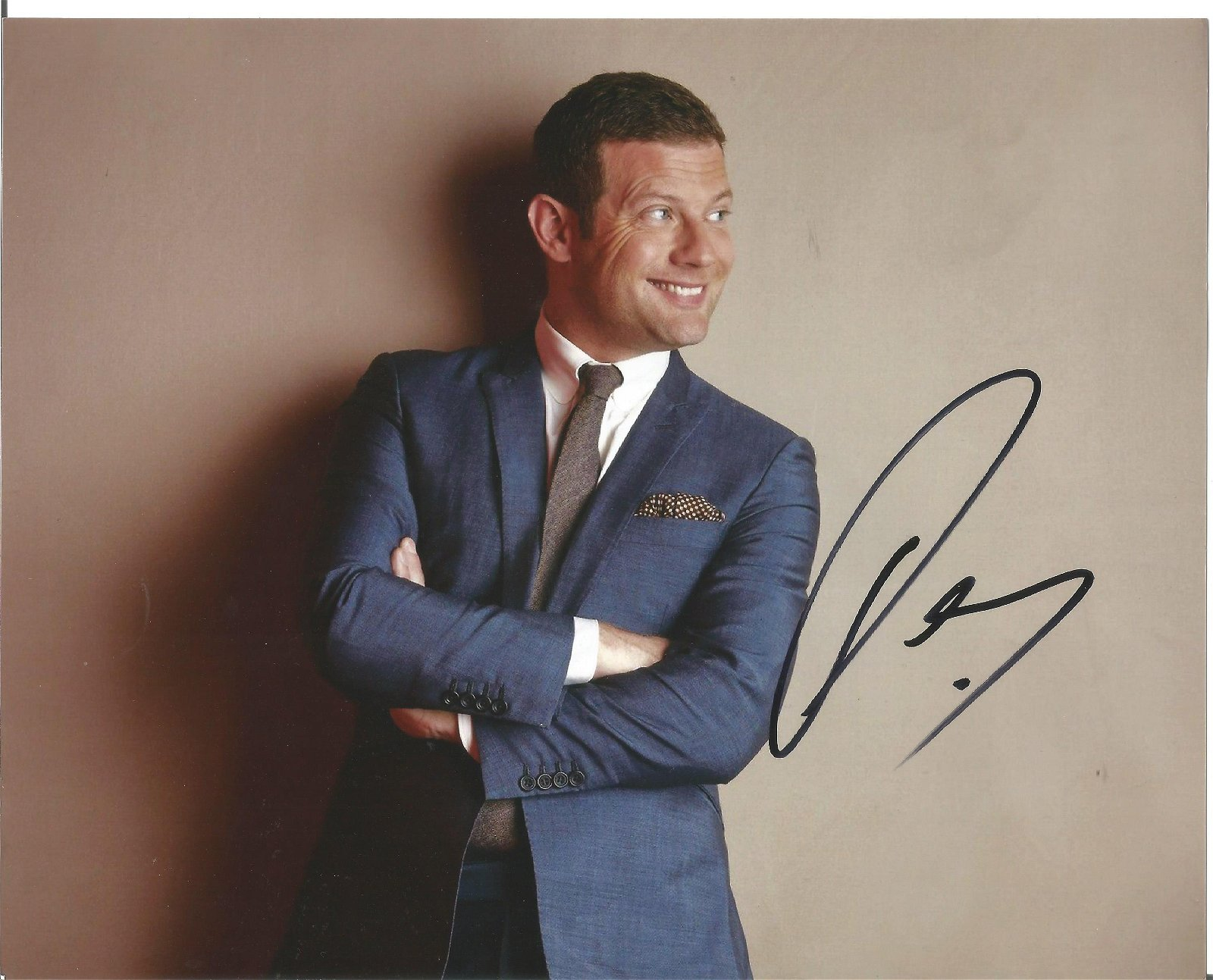 Dermot O'Leary Presenter Signed 8x10 Photo . Good