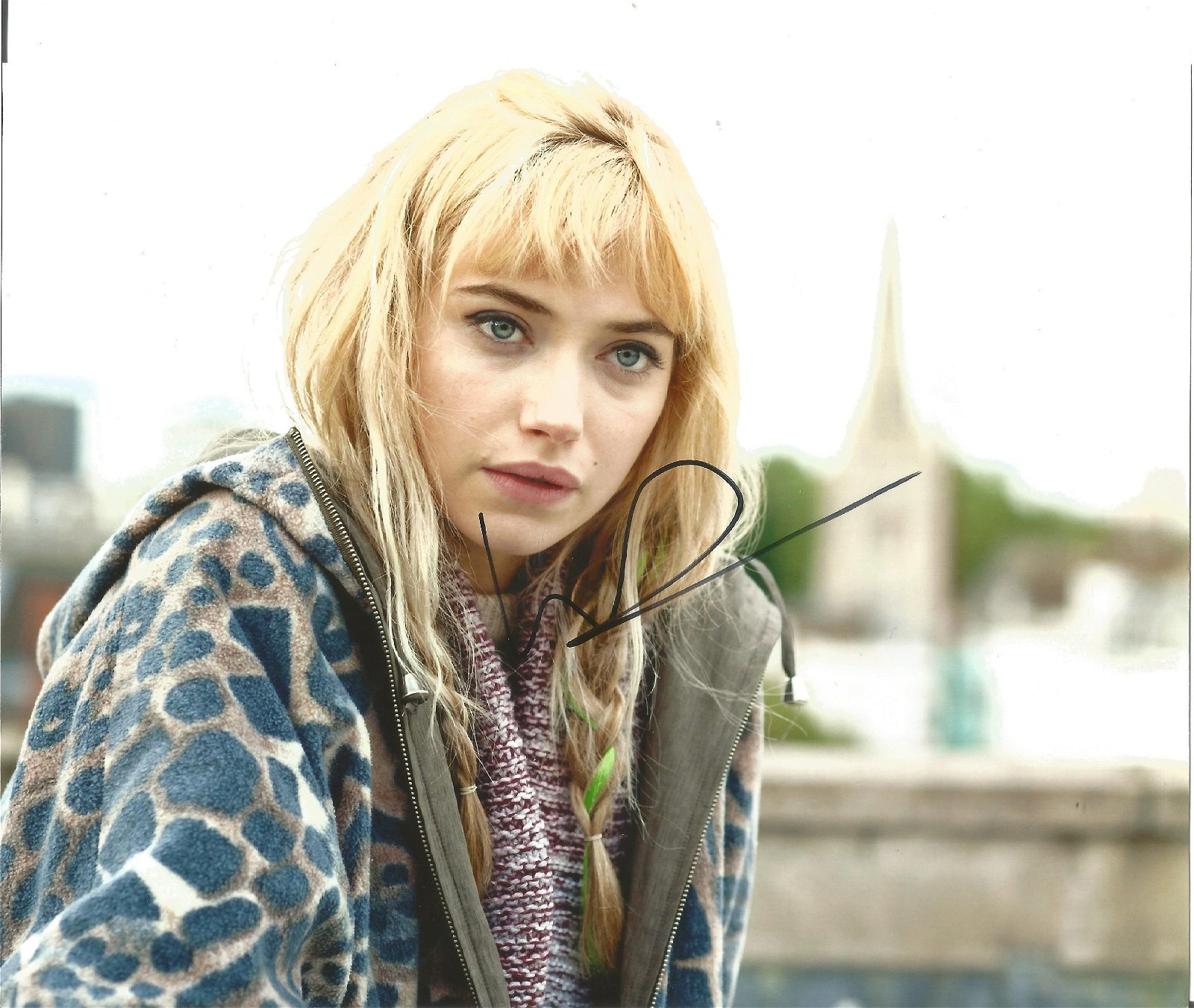 Imogen Poots Actress Signed 8x10 Photo . Good