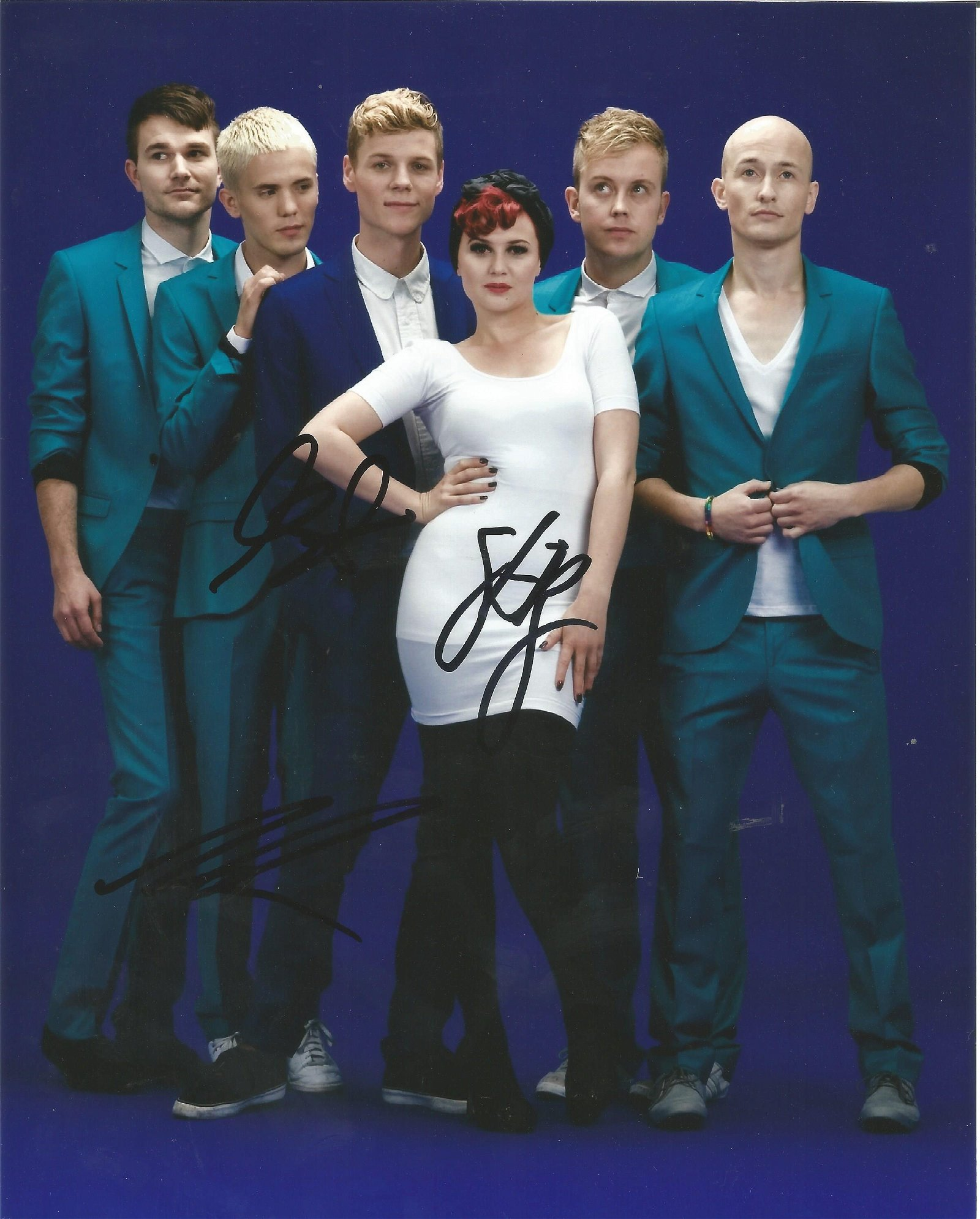 Alphabeat Band Signed 8x10 Photo . Good Condition. All