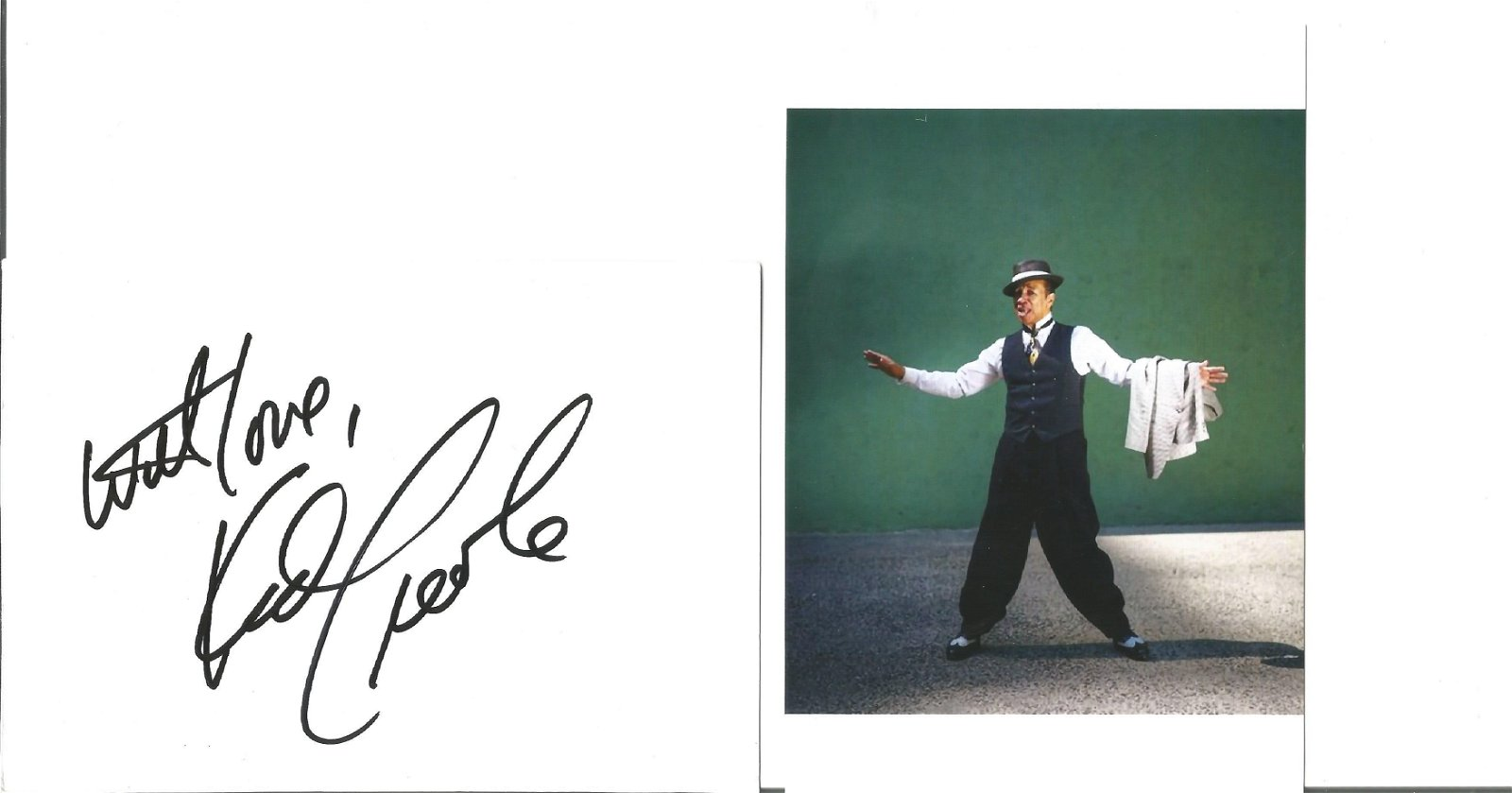Kid Creole Singer Signed Card Plus Photo . Good