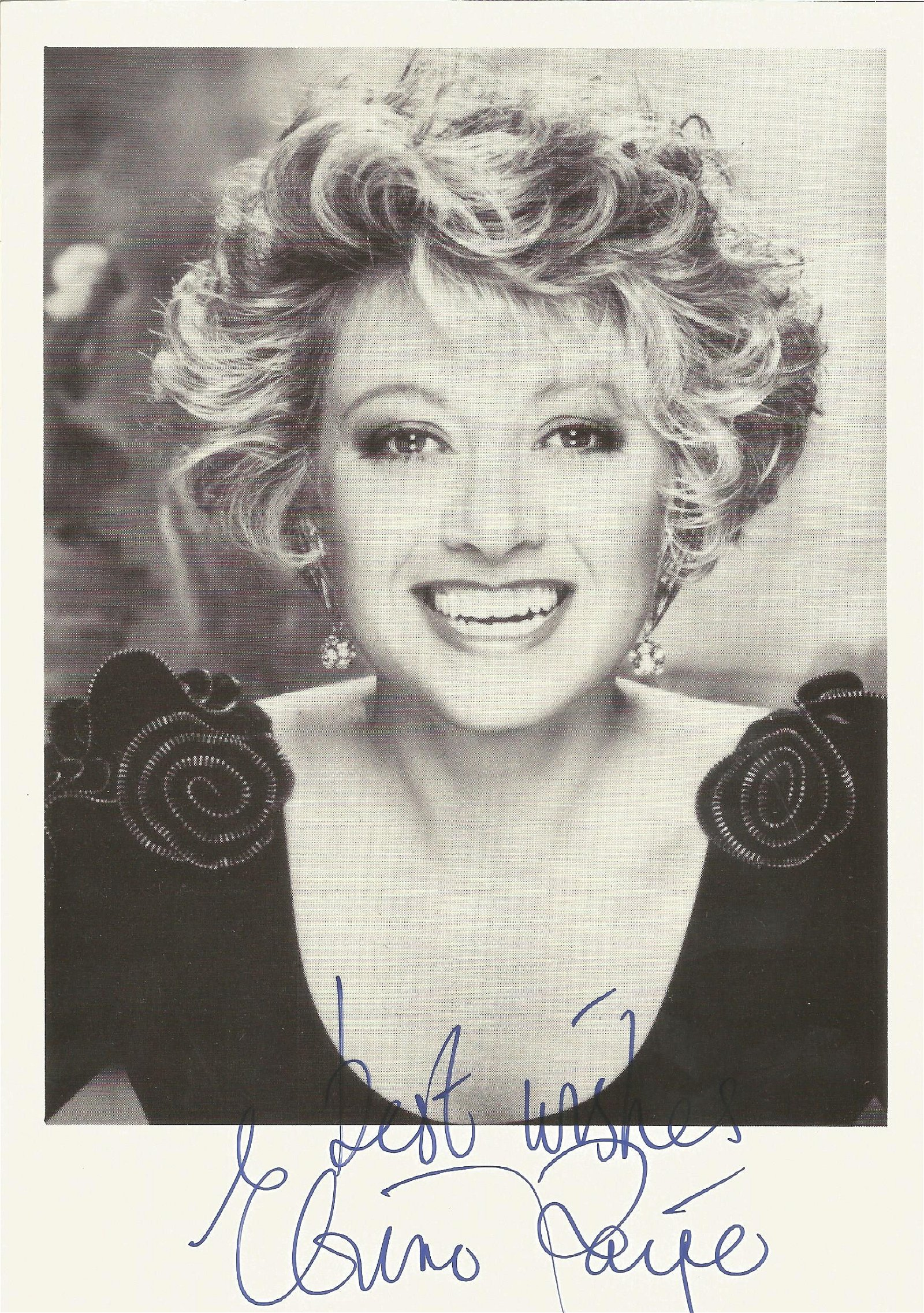 Elaine Paige Signed 5x7 Photo . Good Condition. All