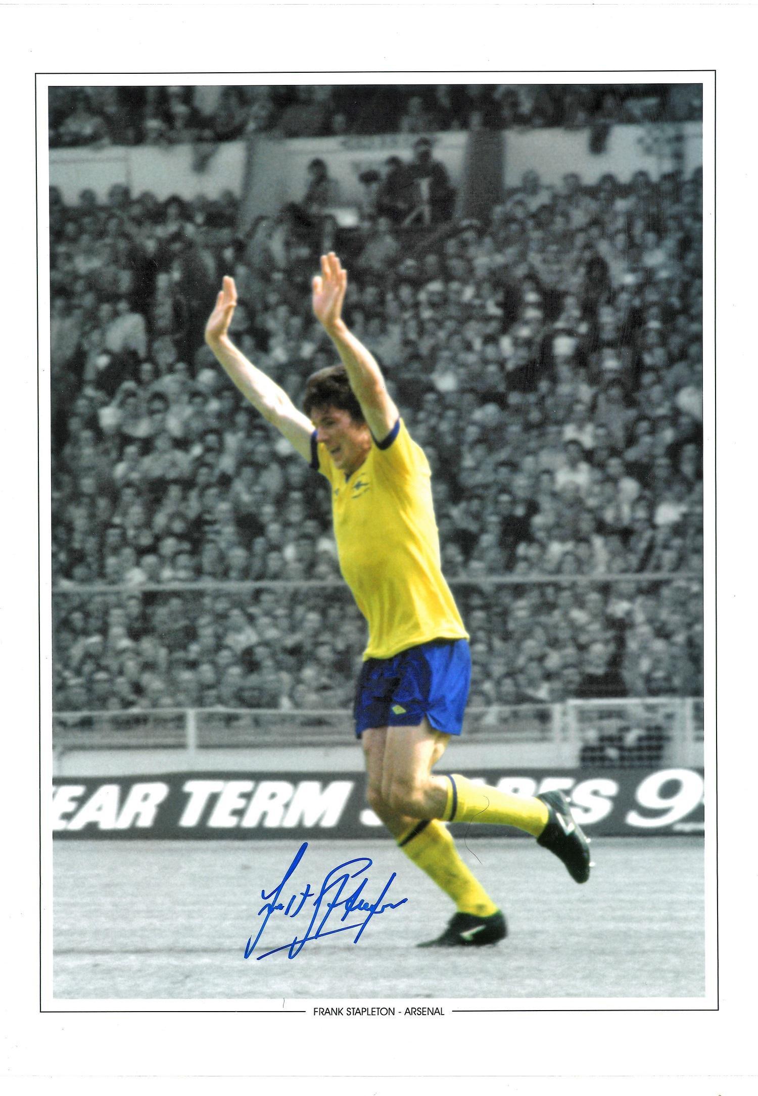 Frank Stapleton Signed Arsenal 12x16 Photo . Good