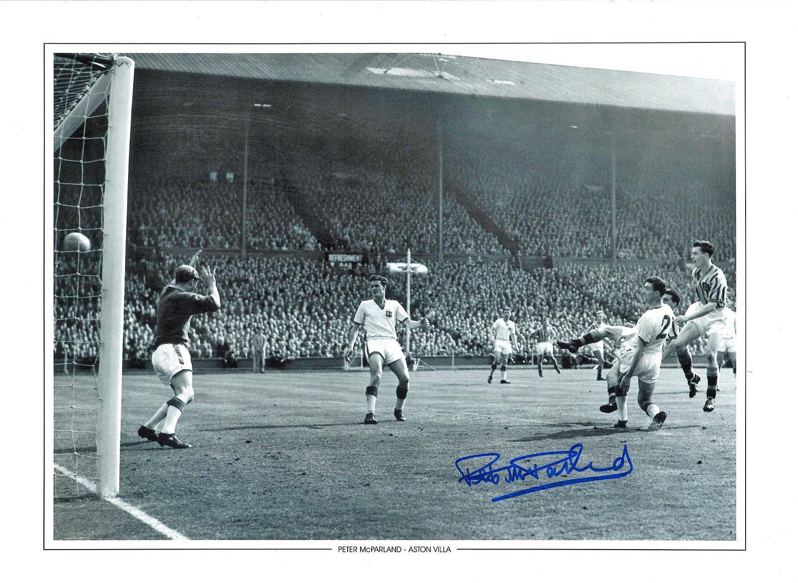 Peter Mcparland Signed Aston Villa 12x16 Photo . Good
