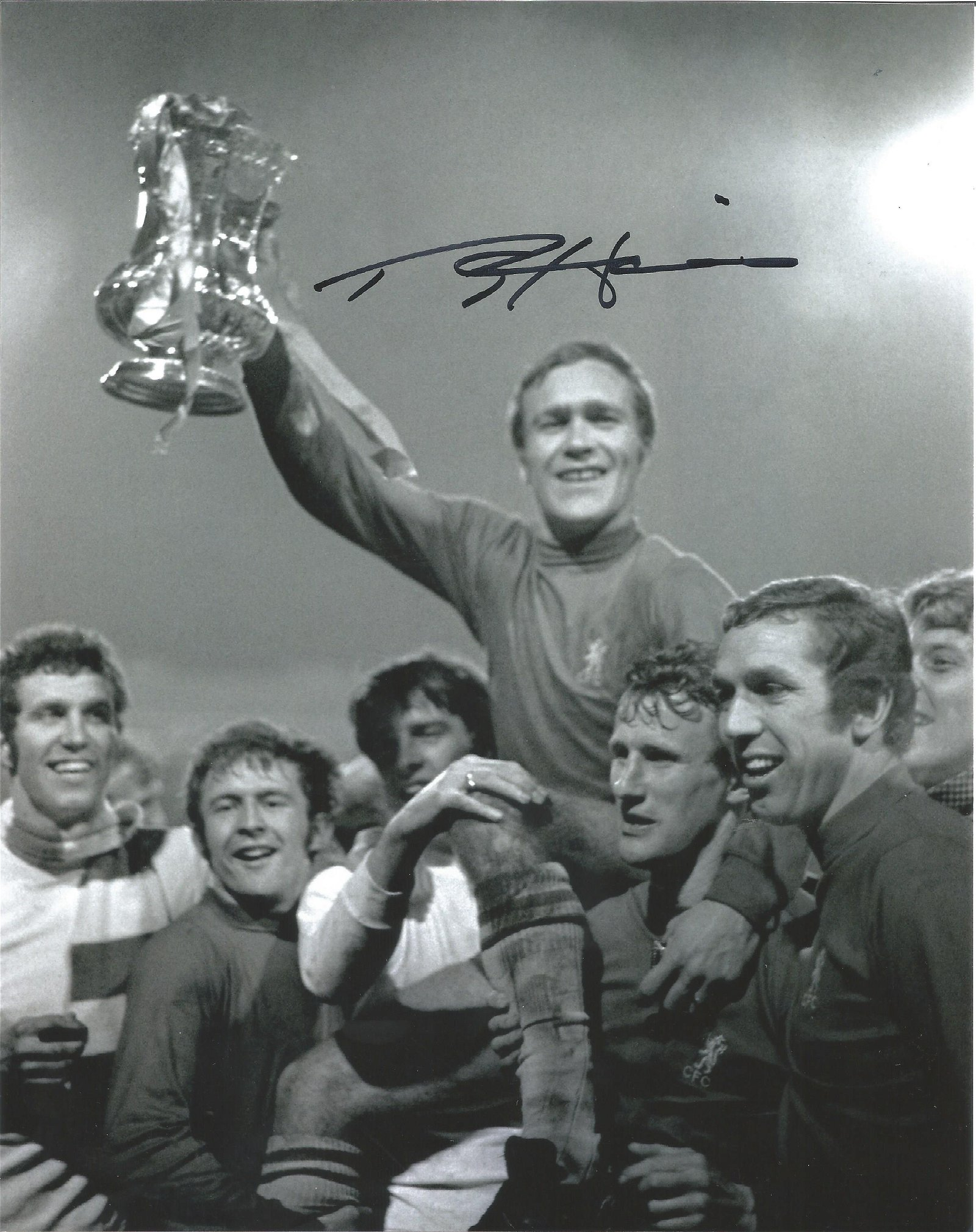 Ron Harris Signed Chelsea Fa Cup 8x10 Photo . Good
