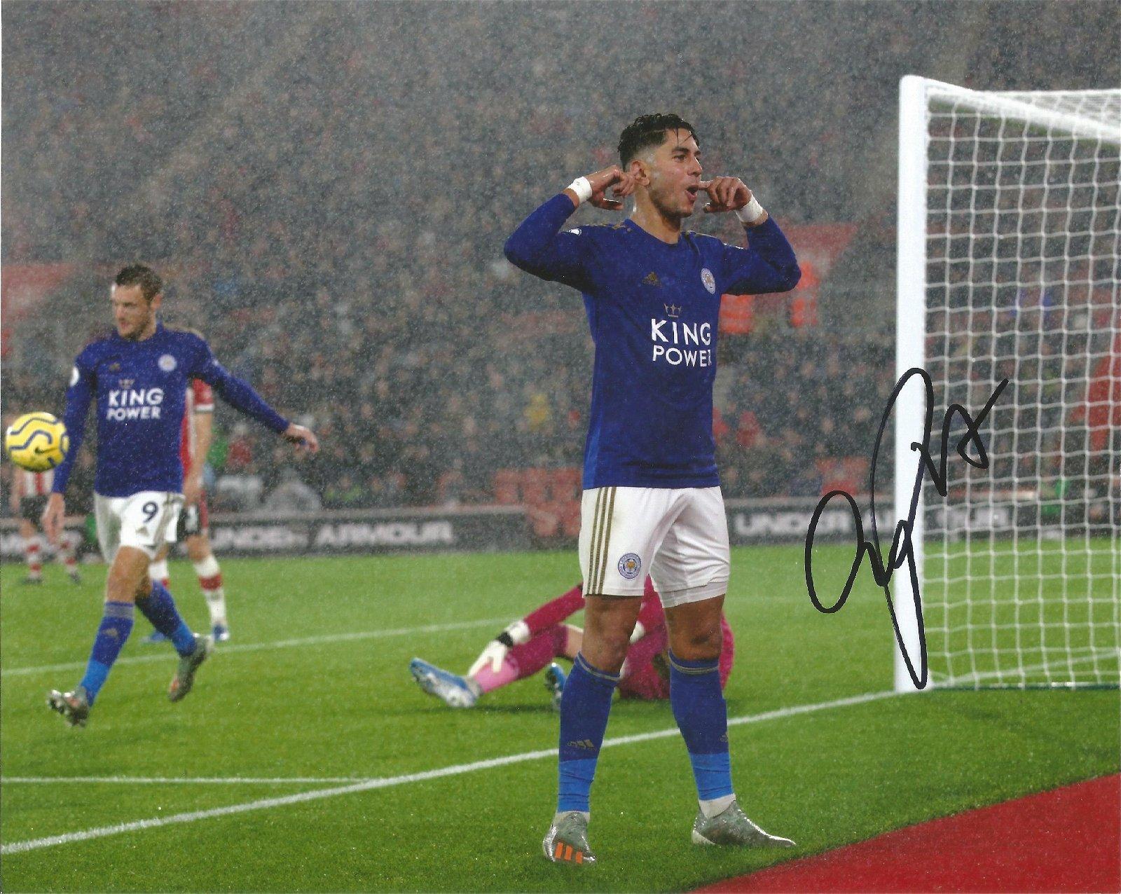 Ayoze Perez Signed Leicester City 8x10 Photo . Good