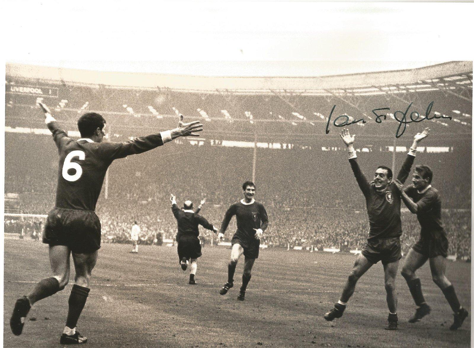 Ian St John Signed Liverpool 1965 Fa Cup Final 8x12