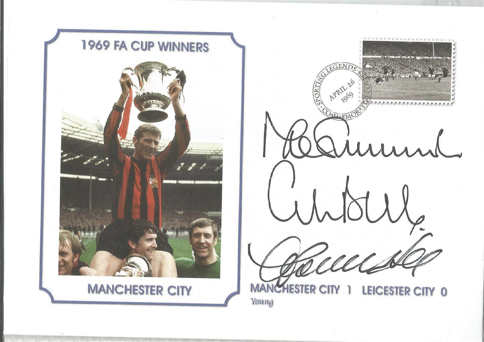 Mike Summerbee, Colin Bell and Francis Lee Signed