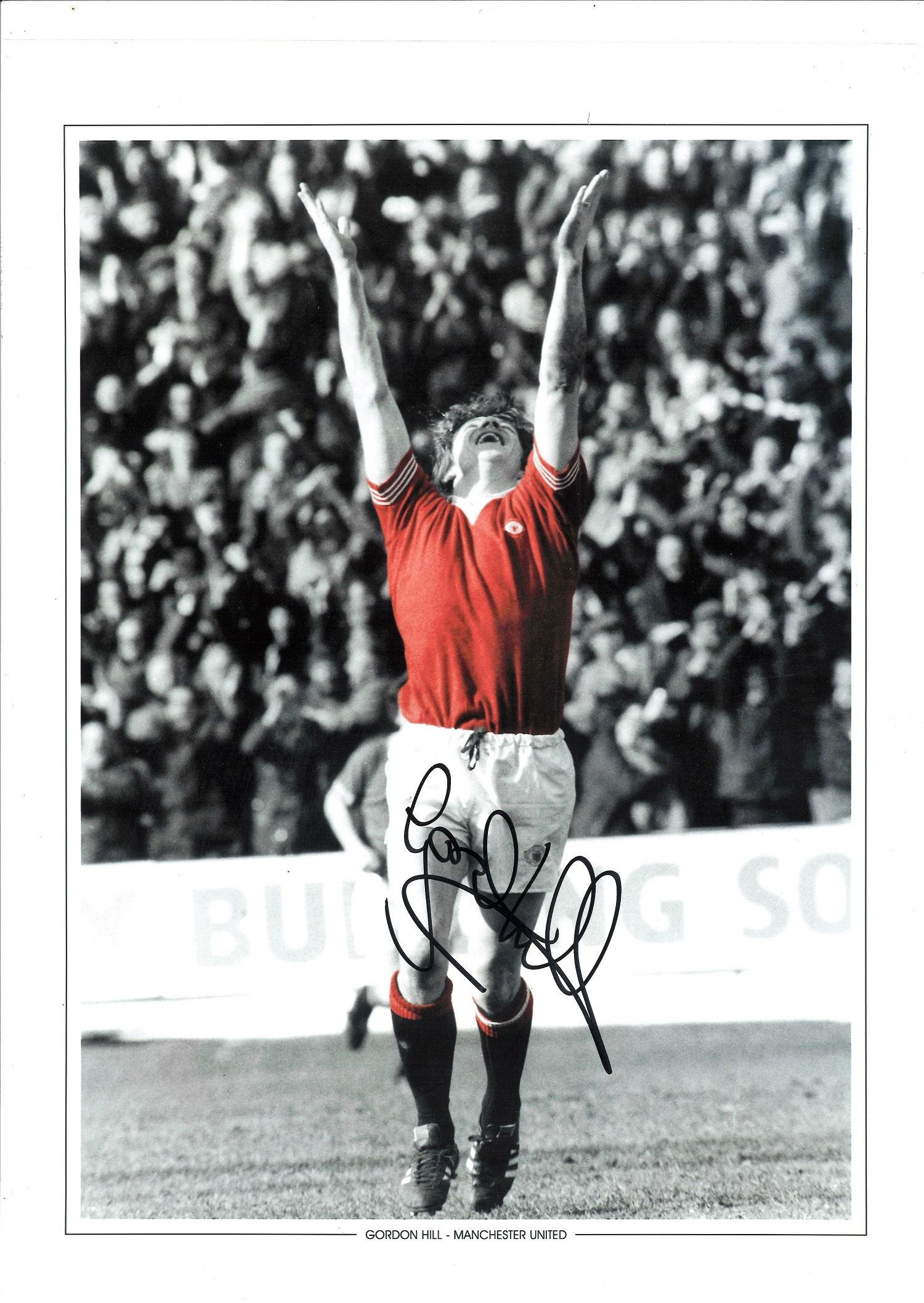 Gordon Hill Signed Manchester United Fa Cup Final 12x16