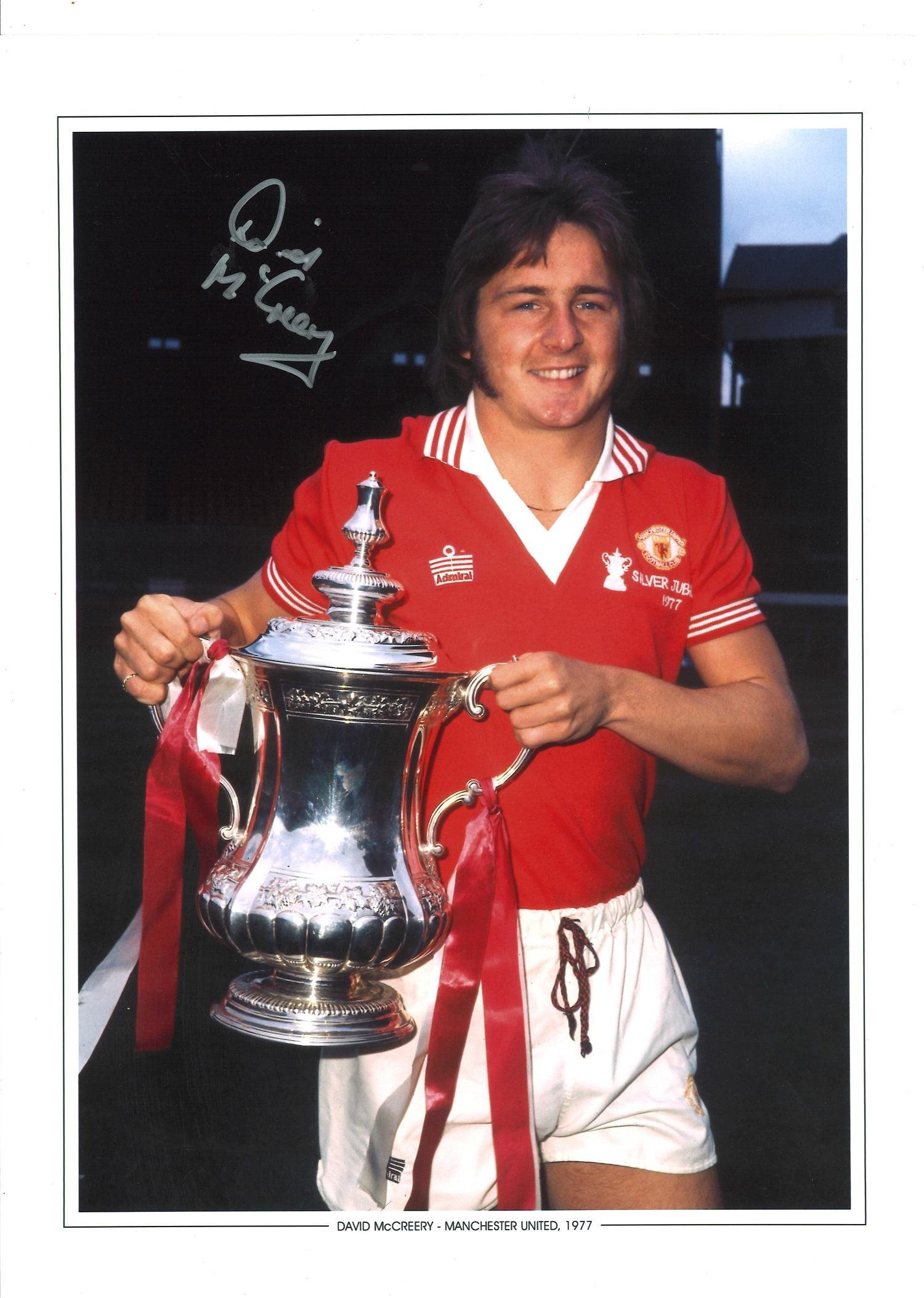 David Mccreery Signed Manchester United 1977 Fa Cup