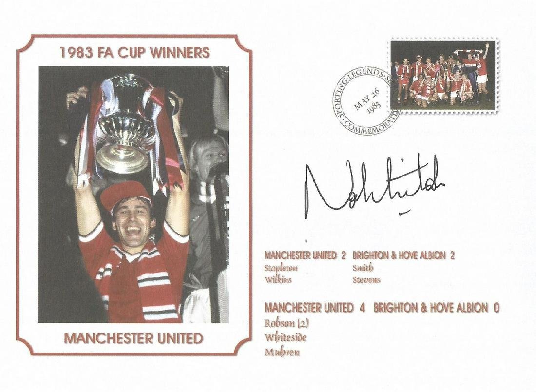 Norman Whiteside Signed Manchester United 1983 Fa Cup