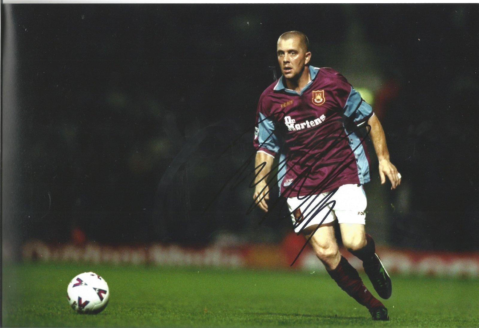 Julian Dicks Signed West Ham United 8x12 Photo . Good