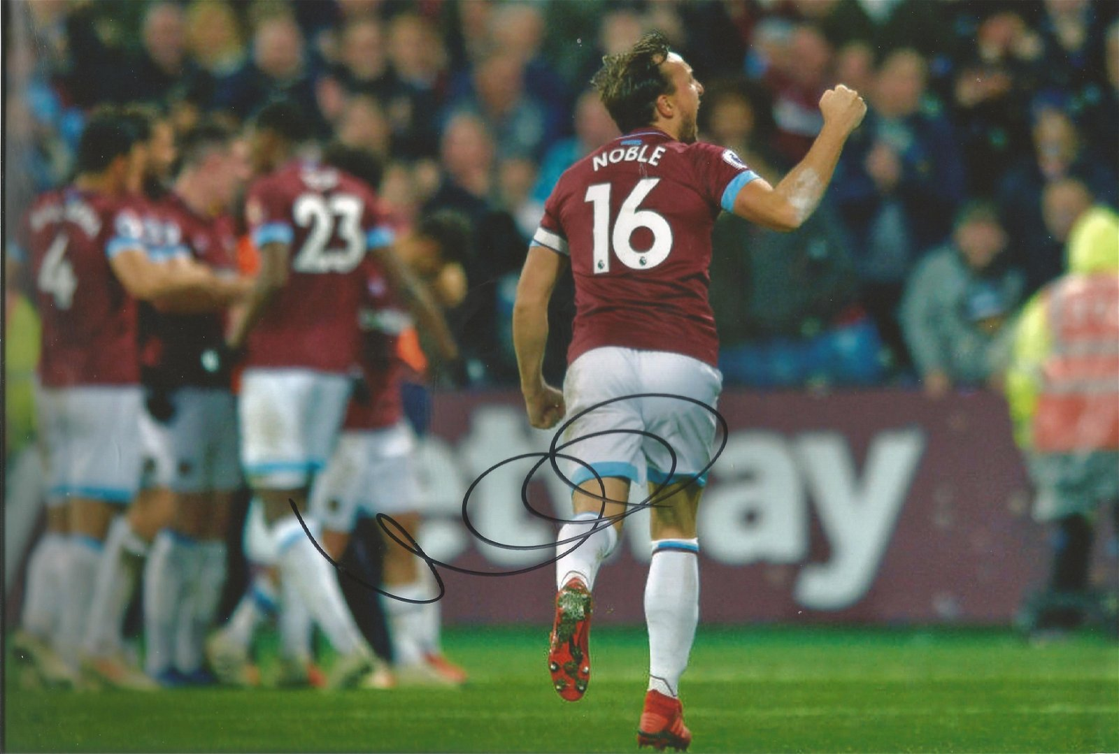 Mark Noble Signed West Ham United 8x12 Photo . Good
