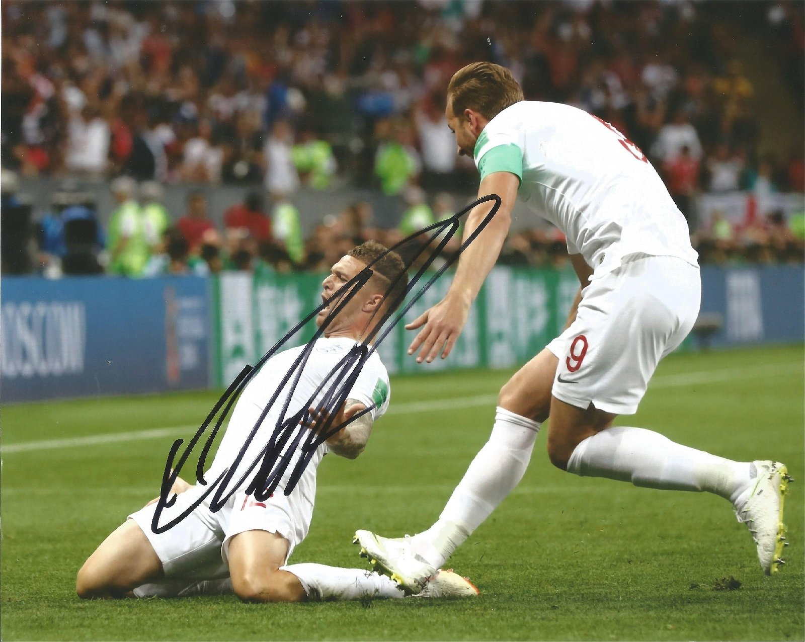 Kieran Trippier Signed England 8x10 Photo . Good