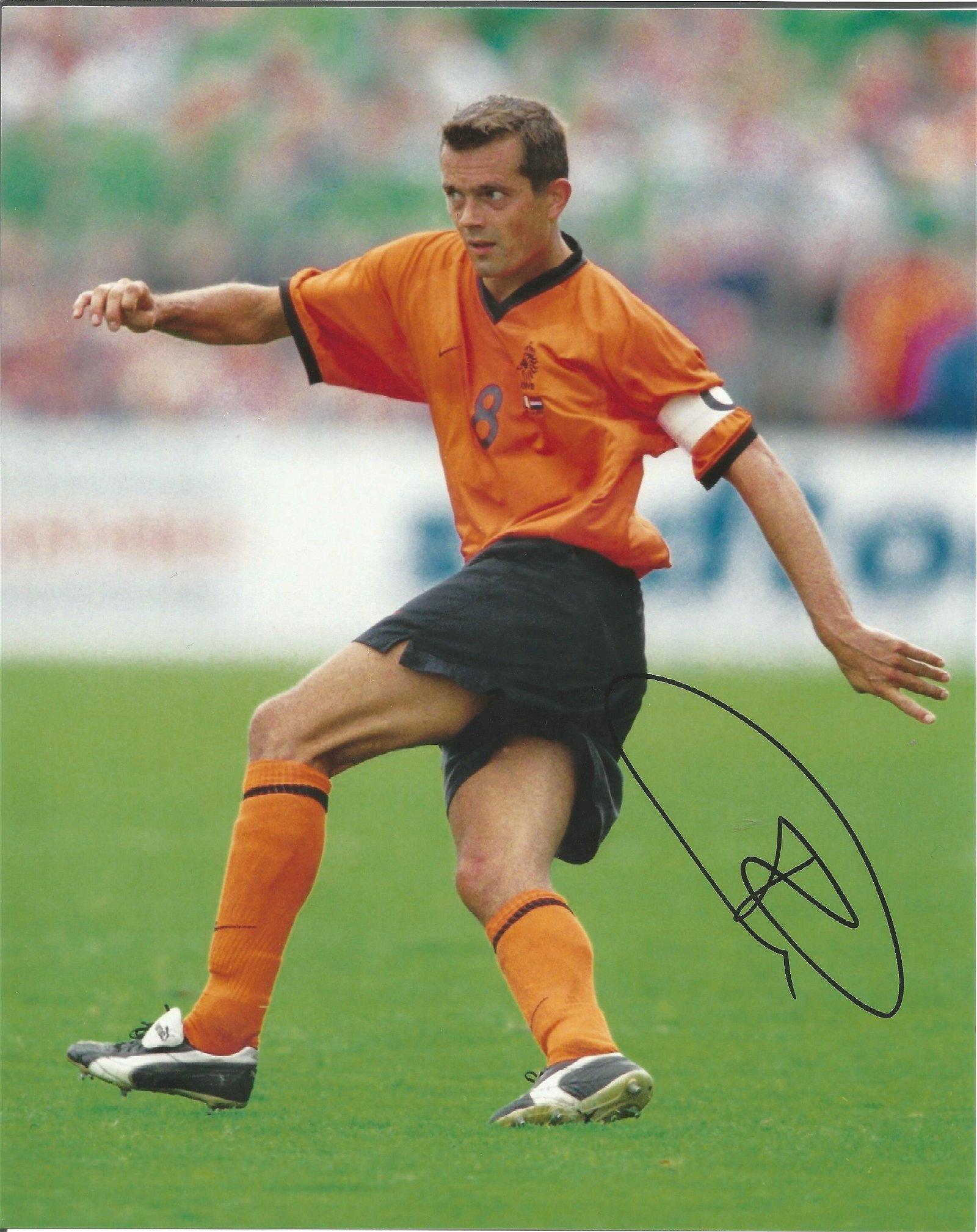 Phillip Cocu Signed Holland 8x10 Photo . Good