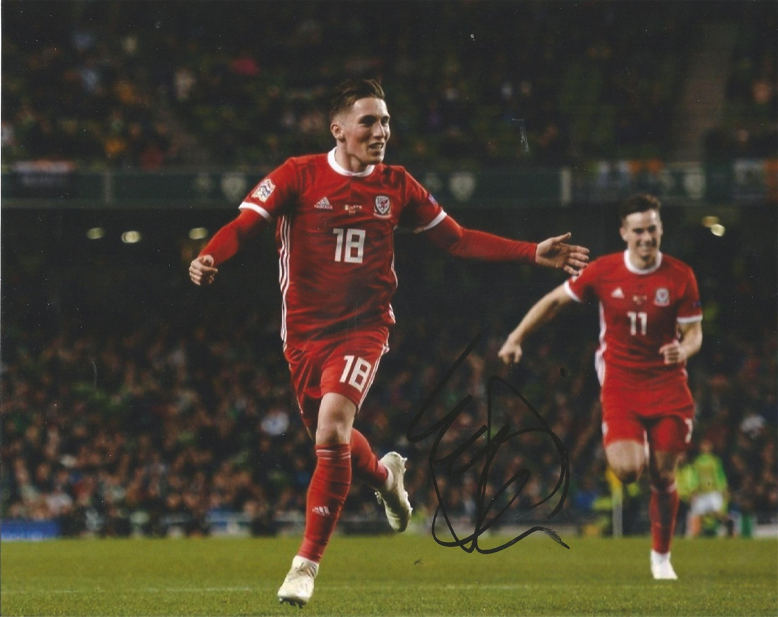 Harry Wilson Signed Wales 8x10 Photo . Good Condition.