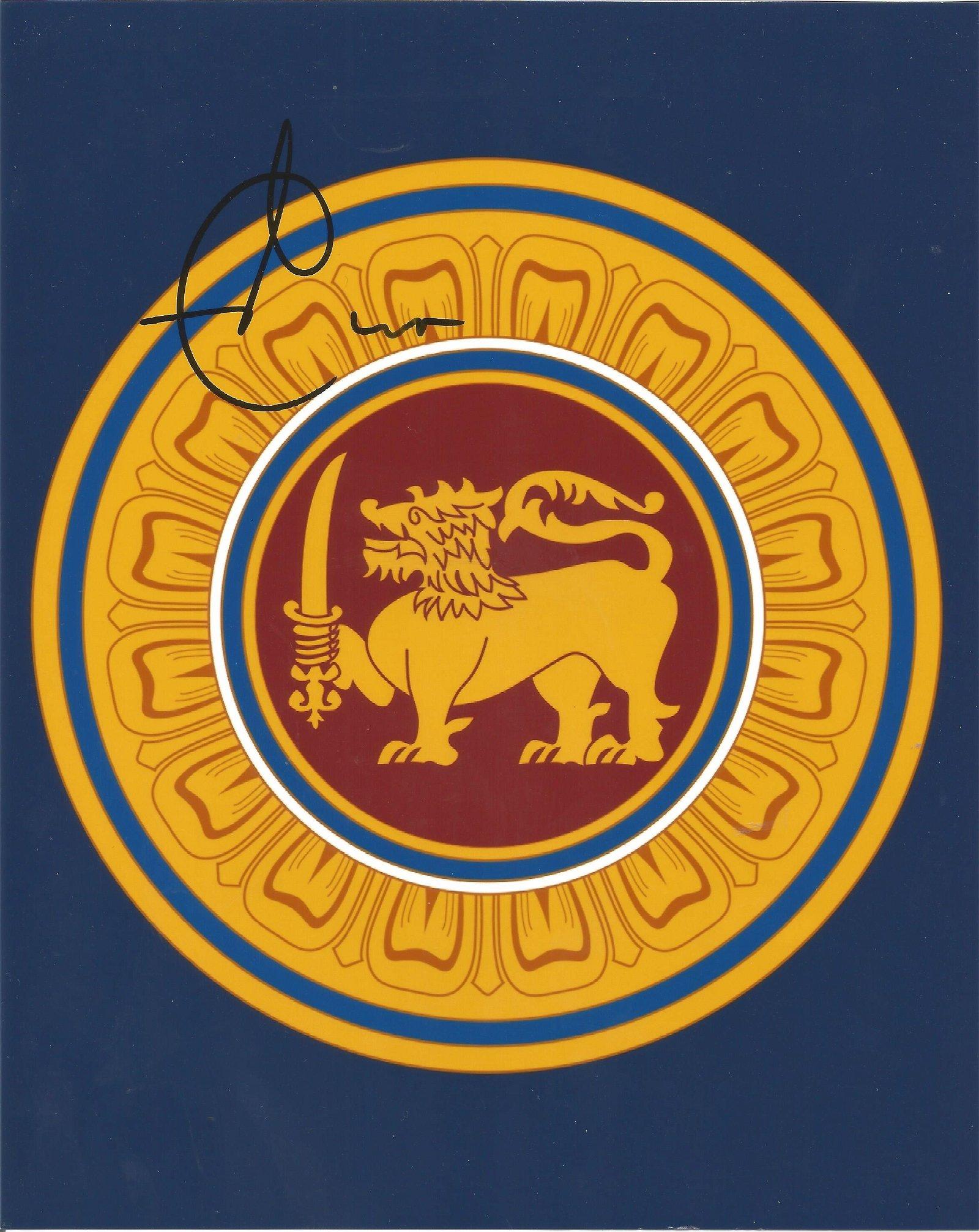 Lasith Malinga Signed Sri Lanka Cricket 8x10 Photo .