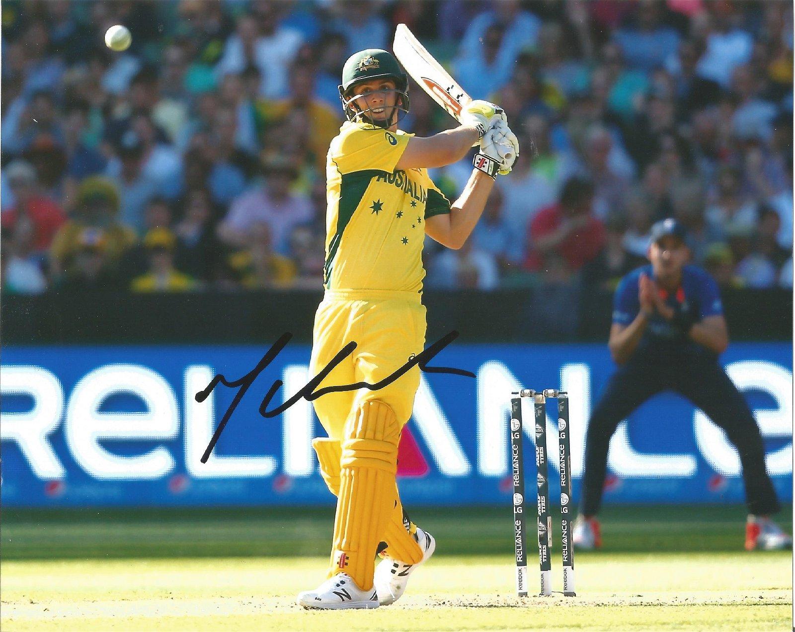 Mitchell Marsh Signed Australia Cricket 8x10 Photo .