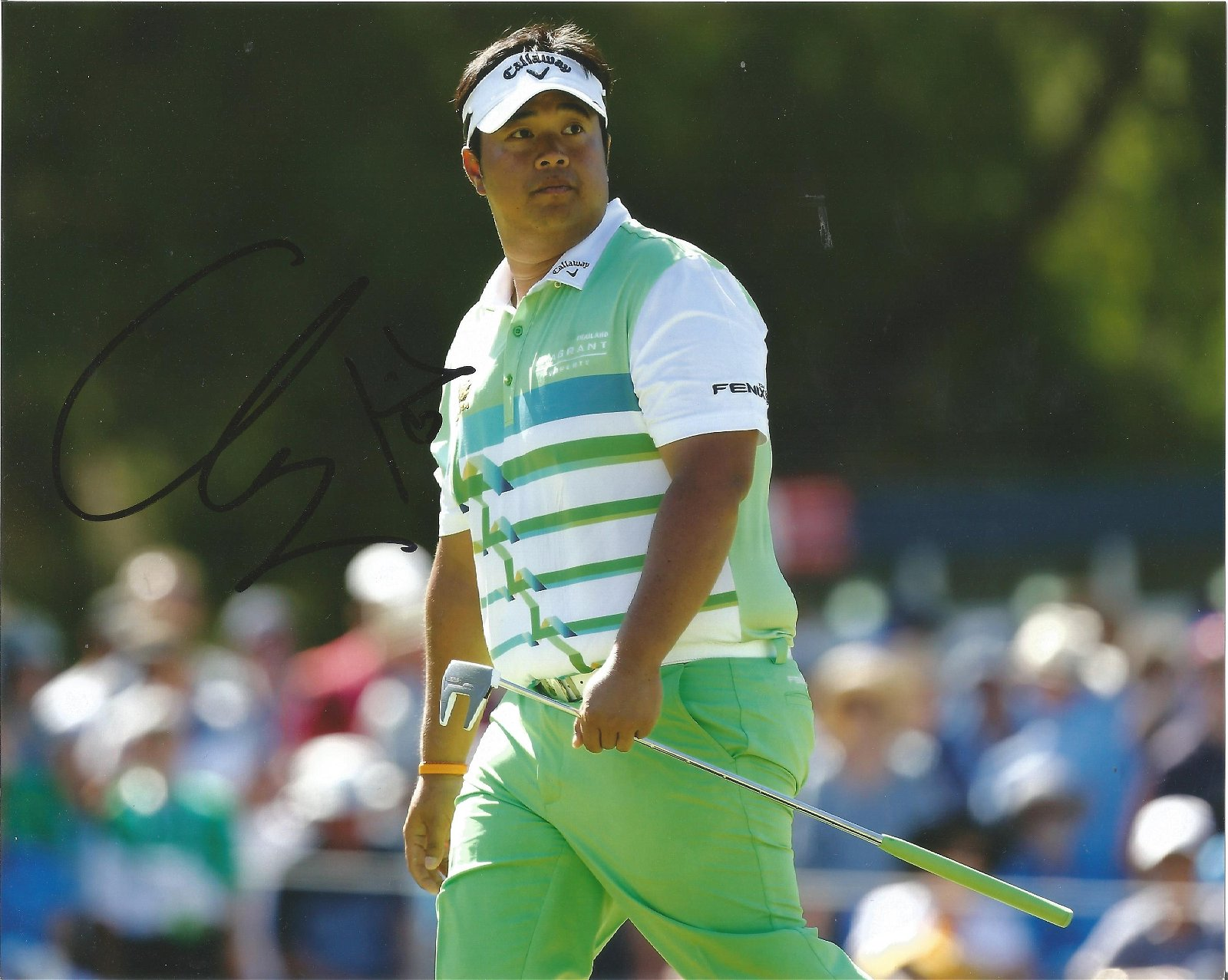 Kiradech Aphibarnrat Signed Golf 8x10 Photo . Good