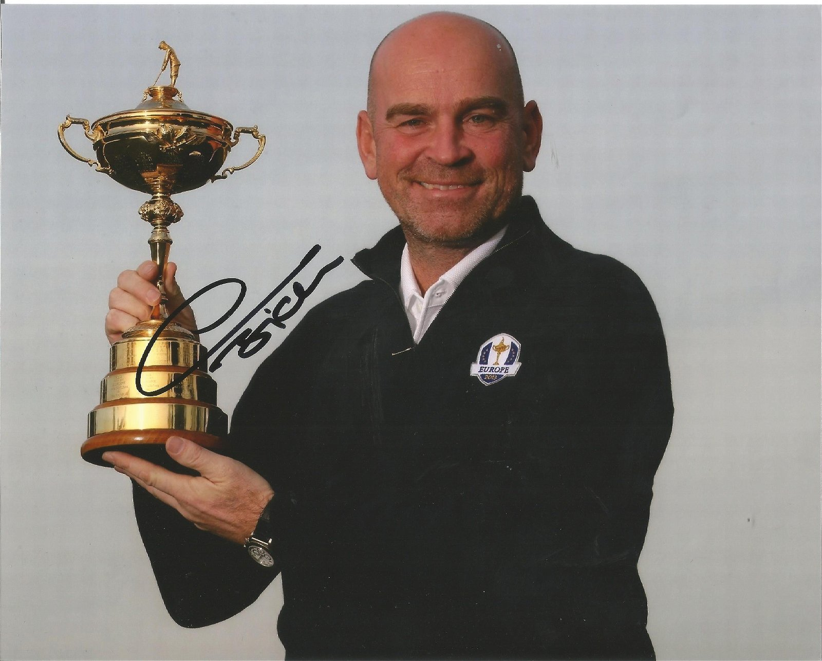 Thomas Bjorn Signed Ryder Cup Golf 8x10 Photo . Good