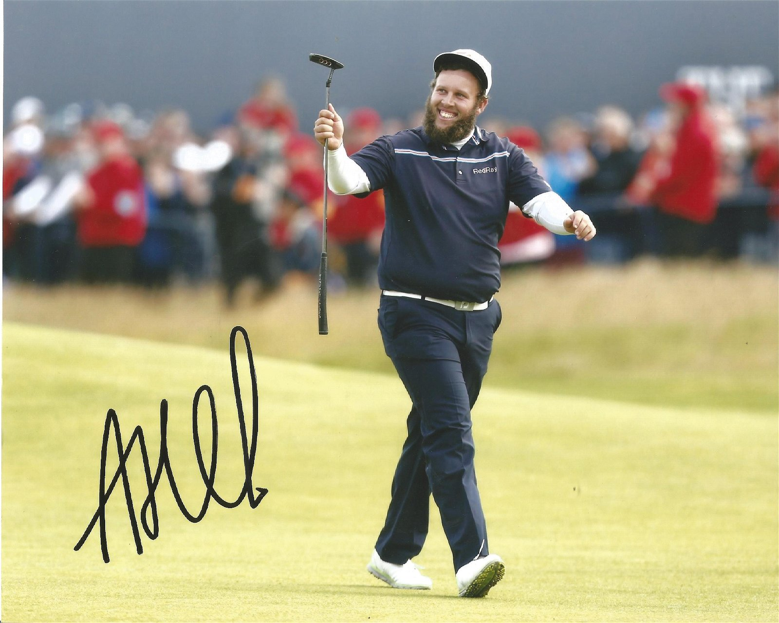 "Andrew """"Beef"""" Johnson Signed Golf 8x10 Photo . Good"