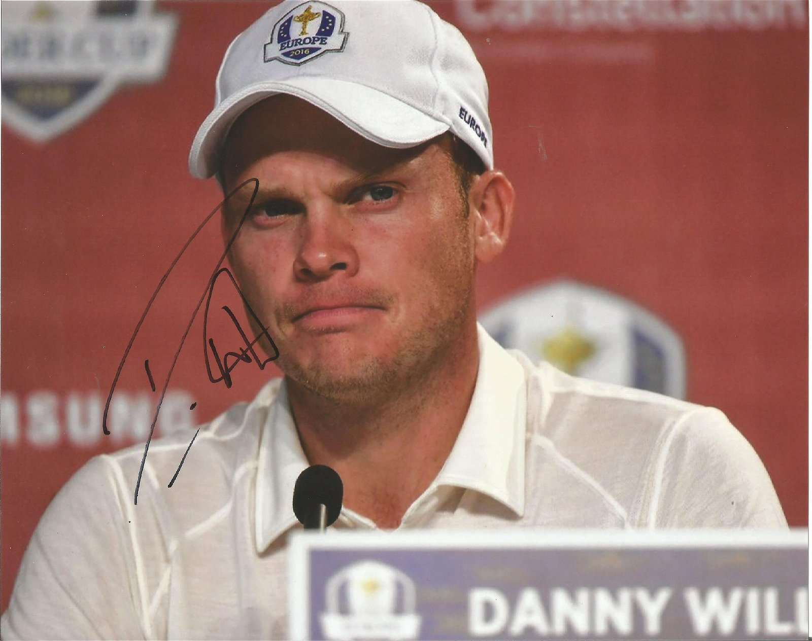 Danny Willet Signed Ryder Cup Golf 8x10 Photo . Good