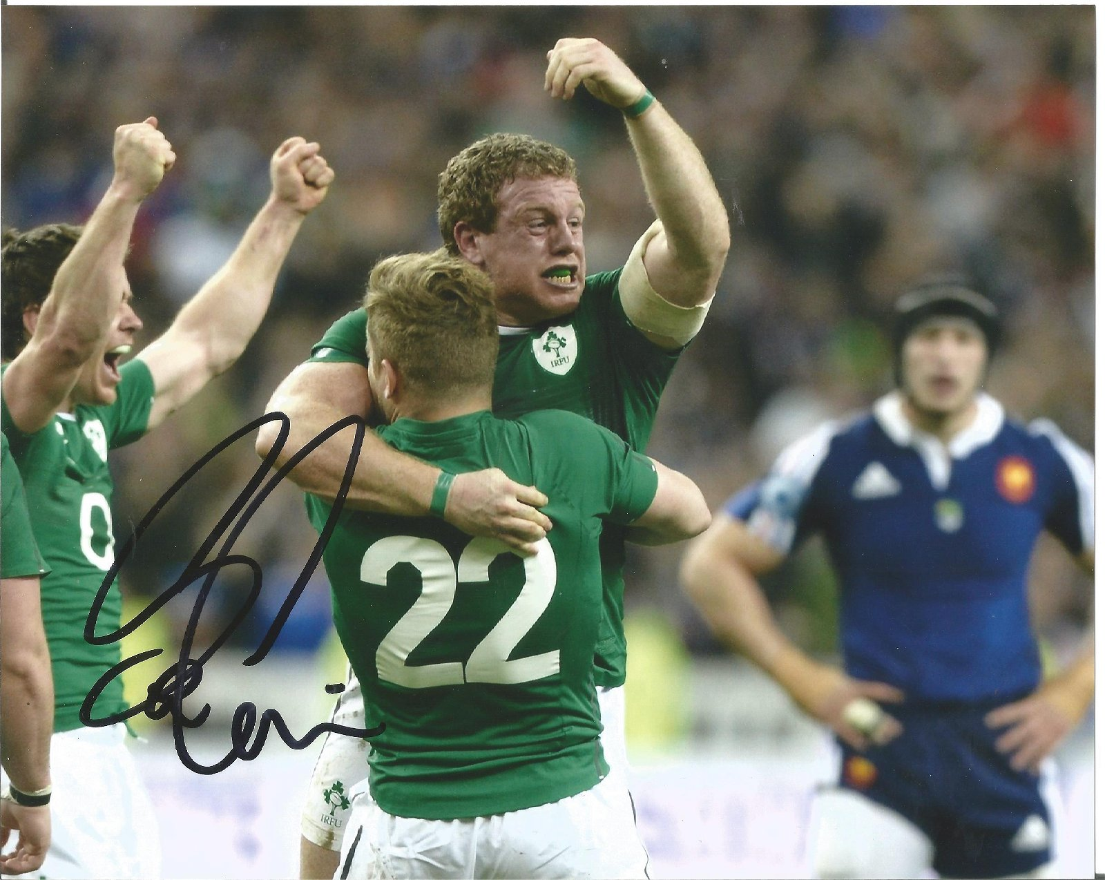 Sean Cronin Signed Ireland Rugby 8x10 Photo . Good