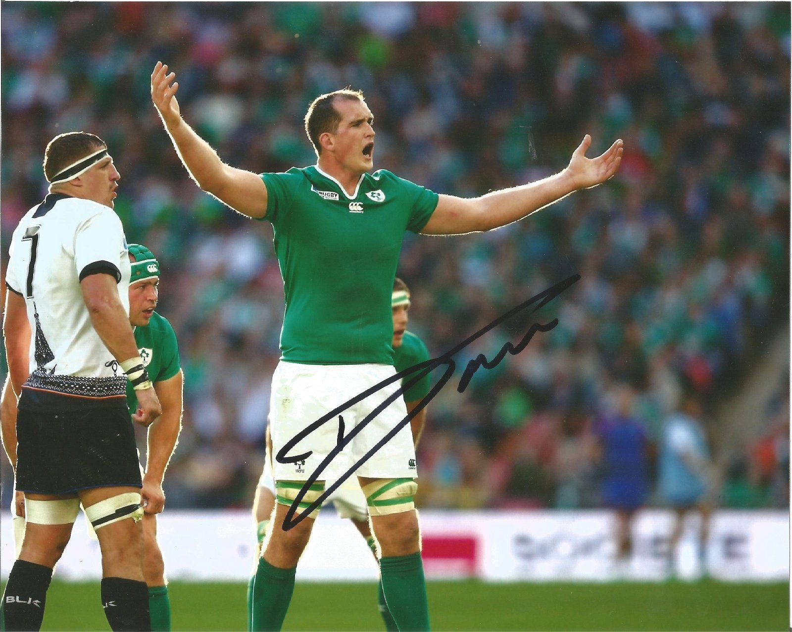 Devin Toner Signed Ireland Rugby 8x10 Photo . Good