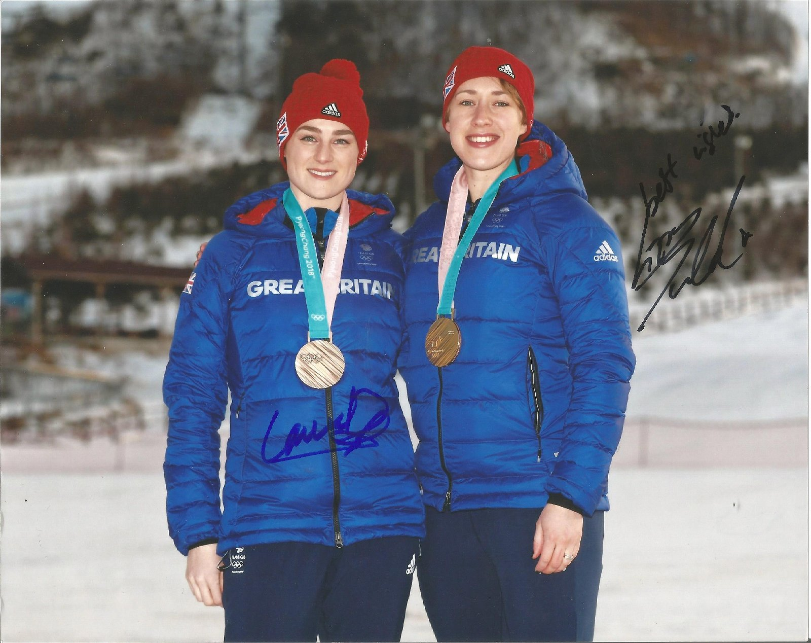 Laura Deas and Lizzy Yarnold Signed Winter Olympics