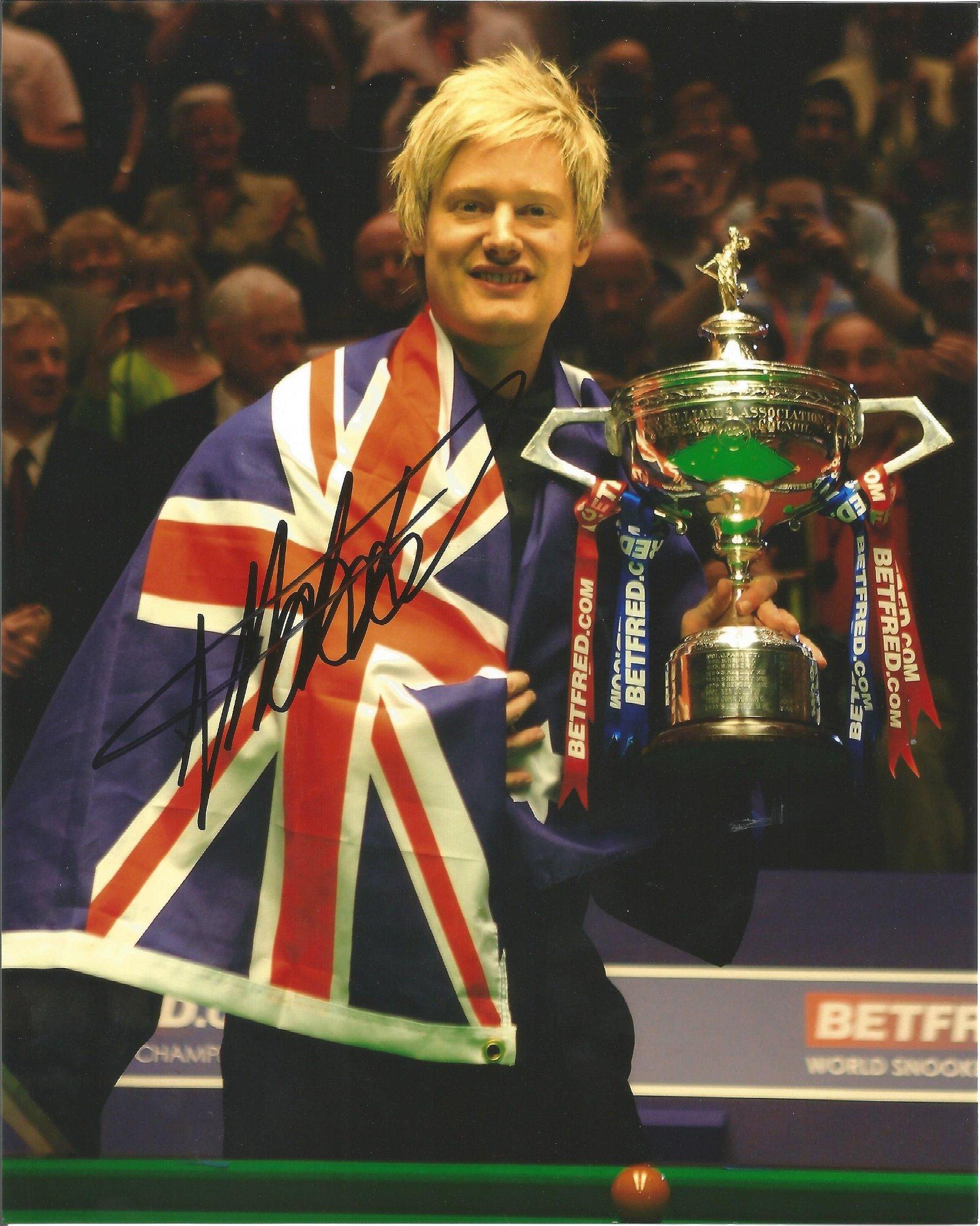 Neil Robertson Signed Snooker World Champion 8x10 Photo