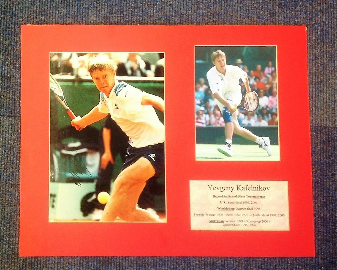 Yevgeny Kafelnikov Signed Tennis 15.5x20 Photo Display