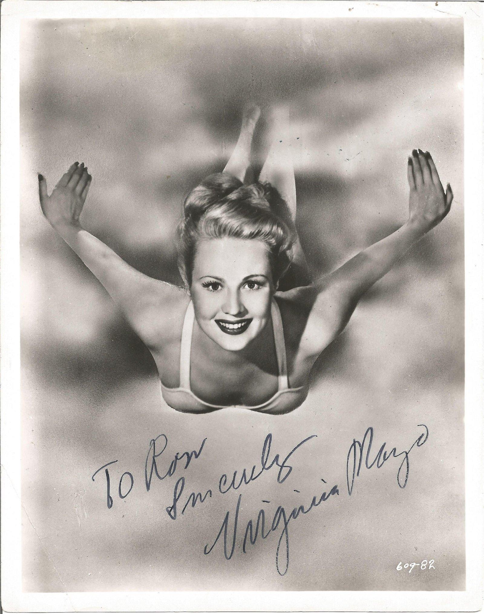 Virginia Mayo signed 10x8 black and white photo.
