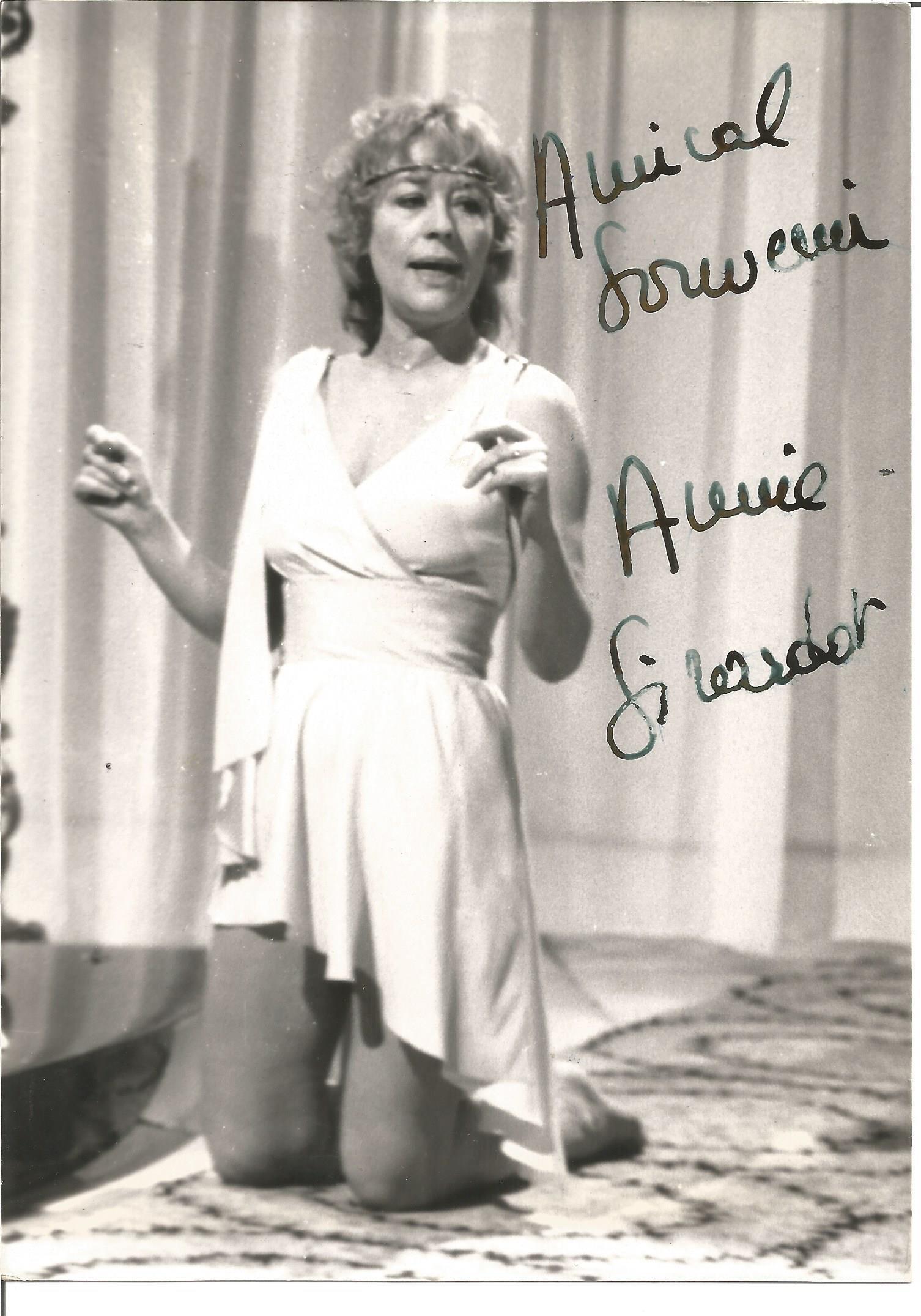 Annie Giradot signed 7x5 black and white photo. Good