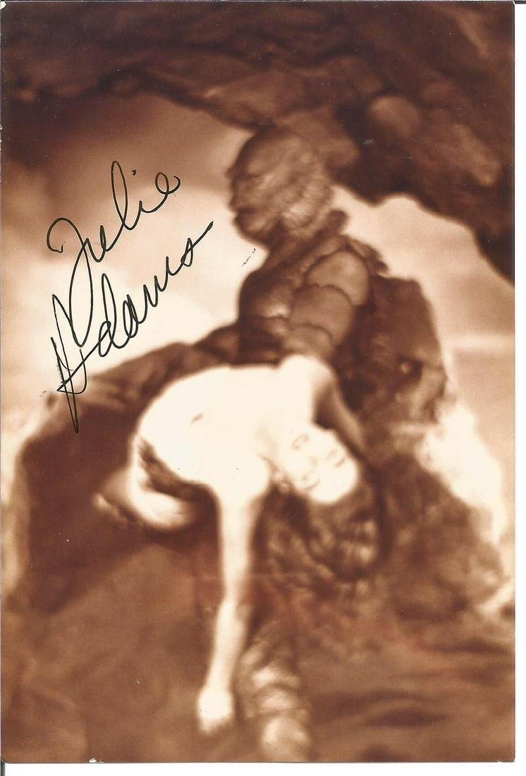 Julie Adams signed 6x4 vintage photo. Good Condition.