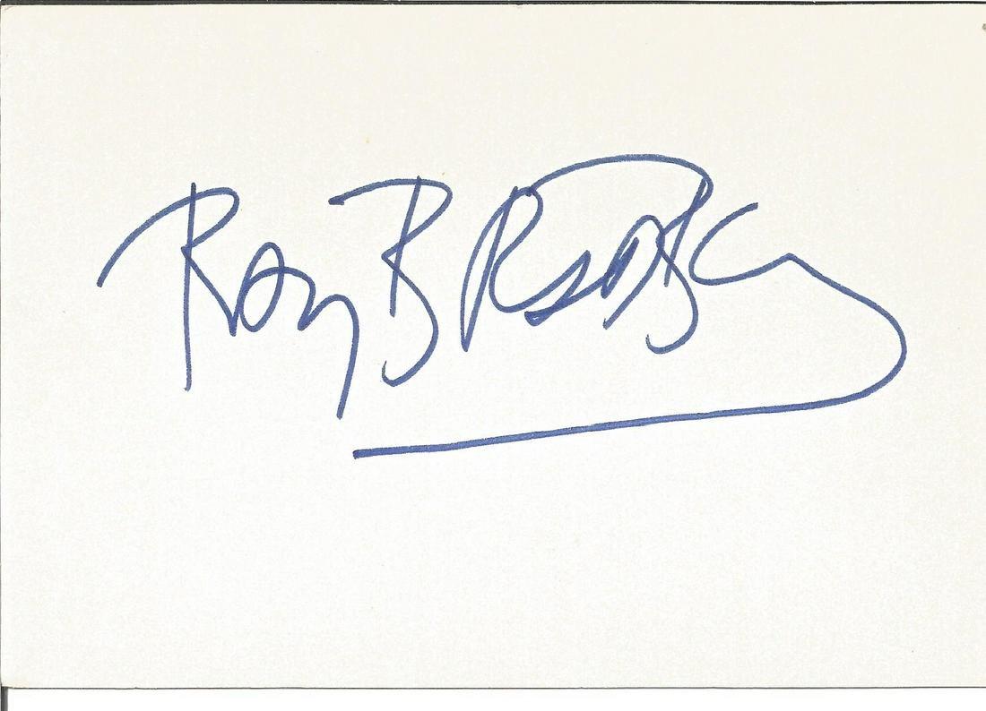 Ray Bradbury signed 6x4 white card. Author . Good