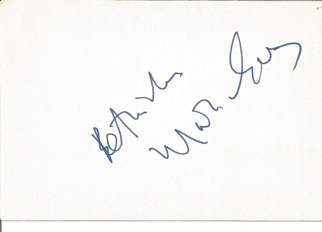 Marius Goring signed 6x4 white card. Good Condition.