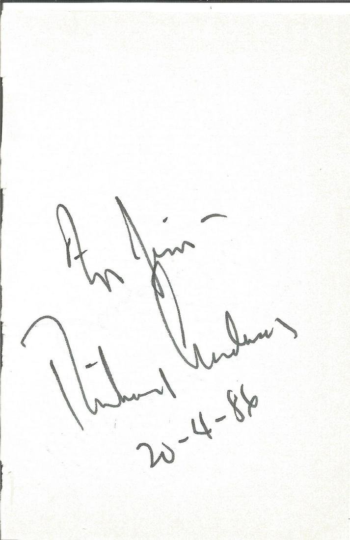 Richard Anderson signed album page. Good Condition. All