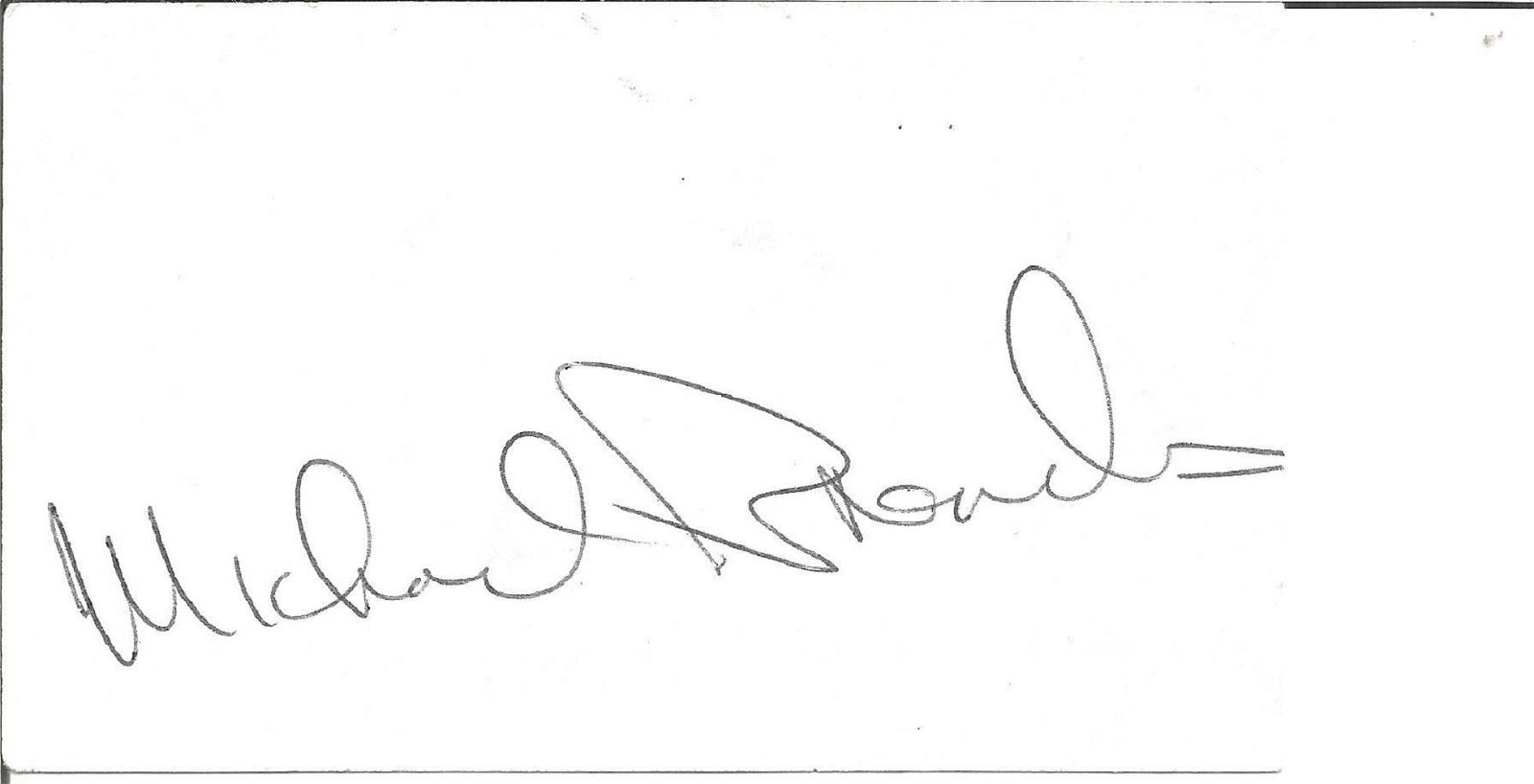 Michael Brandon signed white card. Good Condition. All