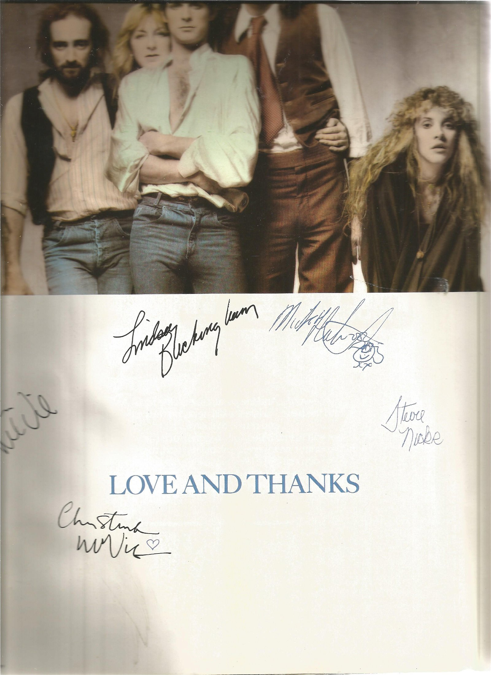 Fleetwood Mac In Concert programme. PRINTED AUTOGRAPHS