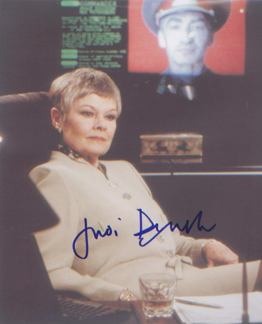Dame Judi Dench signed 10 x 8 inch photo in character