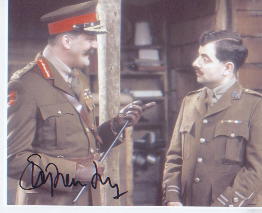 Black Adder Stephen Fry signed 10 x 8 inch photo from